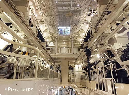 氷川丸機関室