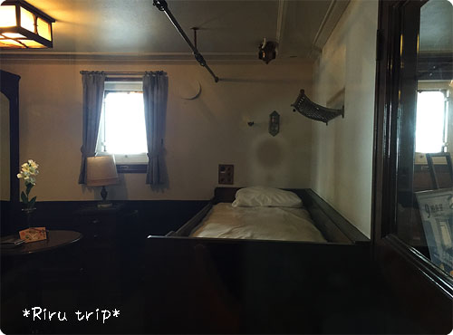 氷川丸船長室5